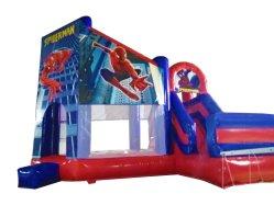 Тема Spiderman надувные пружинистым прыжком замки Combo с