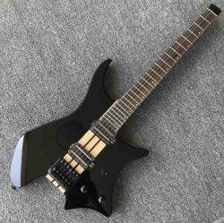 Зола Органа Maple горловину через магистрали двойной подборщики автоматическая электрическая гитара в черный цвет