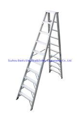 (375LBS) Aluminiumlegierung-Doppelt-mit Seiten versehener Jobstepp-Strichleiter