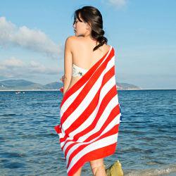 La promoción de la Bandera Nacional Americana impreso Diseño de toalla de playa de carga de stock