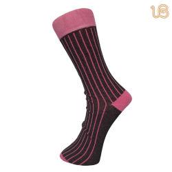 Men's Rib diseñado Mercerized Casual calcetines de algodón