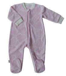 O inverno velo polar Zipadas Romper bebê recém-nascido vestuário para bebé