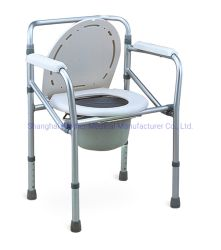 Sedia a rotelle e sedia WC pieghevole in acciaio più venduta per Disattivato