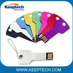 Multi Farben-Metalschlüssel USB-Blitz-Laufwerk 32GB mit kundenspezifischem Firmenzeichen