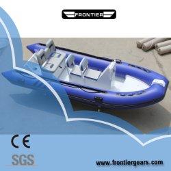 13 pés (4m) Mini Hypalon PVC bote de borracha do piso de fibra de mergulho as instalações mais populares Console Velocidade Rígida Barcos insufláveis