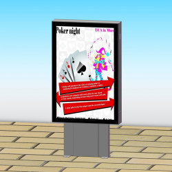 Городской общественный реклама открытый стенд прокрутки светодиодный индикатор .