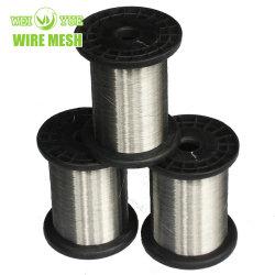 Ultra mince en acier inoxydable recuit brillant le tissage de fils à coudre utilisé pour les gants résistants aux coupures