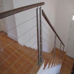 شرفة تصميم باليه سلك من الفولاذ المقاوم للصدأ لفيراندا