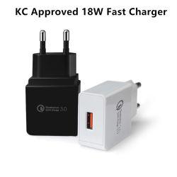 Kc/FCC/PSE быстрое зарядное устройство 3.0 Адаптивная быстрая зарядка мобильного телефона зарядное устройство USB для путешествий