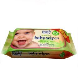 Antibacteriano Nonwoven desechables Purfied toallitas de bebé agua