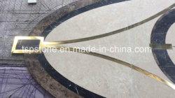 Настраиваемые гранитный камень Waterjet шаблона/Mosaic мозаика пограничных/медальон за каменными плитками на полу с металлической вставки Декор Дизайн