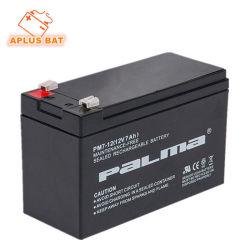 La qualité de calibre international 12V 7 Ah Batteries pour la sécurité du système solaire