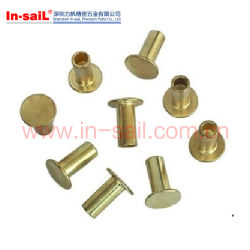 Ribattini tubolari capi piani placcati zinco d'acciaio DIN7339