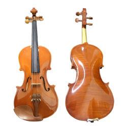 Violini poco costosi del compensato con pelle attillata