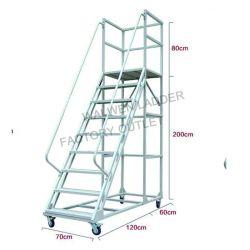 Excellente qualité de l'entrepôt fixe à usages multiples de l'acier plate-forme de pliage de l'échelle de l'échelle