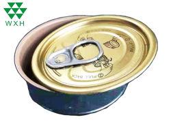 Los envases de alimentos redondos pequeños de estaño metal Contenedor de Atún sardinas