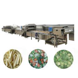 急速冷凍の処理機械フリーズされた野菜およびフルーツの生産ライン