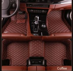 Acessórios para automóvel Eco-Friendly PU Leather Custom Anti Slip 5D Tapete do carro