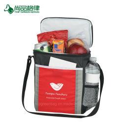 China Promoção Almoço isolados saco térmico com suporte para garrafas
