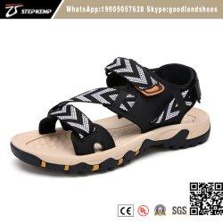 道水を移住するストラップの上部のサンダルが付いている人の屋外のスニーカーの通気性のハイキングの靴は5396に蹄鉄を打つ