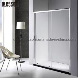 Gabinete de baño puertas corredizas de vidrio templado de la cabina de ducha simple
