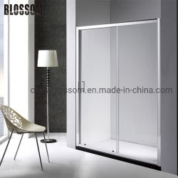 Gabinete de banheiro vidro corrediço de porta de cabina de duche simples de vidro temperado