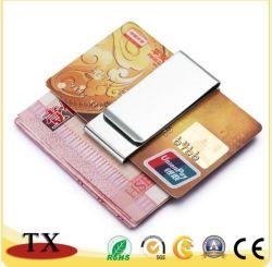 Clip en métal argenté de l'argent et le clip de carte de crédit