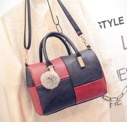 Cores misturadas Lady Handbag Messenger Bag Bolsa de Boston