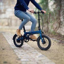 Bicicletta elettrica rossa della bici di E mini rotella elettrica piegante Pedelec dello Spoke della bici da 16 pollici