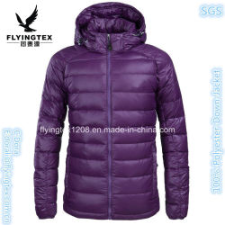 Di nuovo degli uomini delle donne inverno incappucciato del cappotto di inverno rivestimento esterno giù