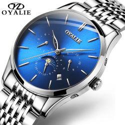 أكثر شعبية Sapphire علامة تجارية ساعات الرجال ستانلس ستيل حركة تلقائية الرجال ساعة المعصم بيع ساخنة