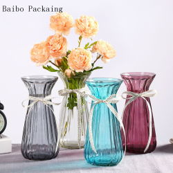 لون الجملة لون مختلف حجم الفم غرايس غراب الزجاج Vase لزينة الزفاف