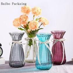 Venda por grosso de vidro colorido vaso de Tamanho Diferente para Decoração/Flor Jarro de vidro