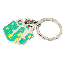 Les produits promotionnels boîte cadeau couleurs émail trousseau de métal