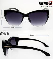 Occhiali da sole di plastica di moda con semiframe Kp80139