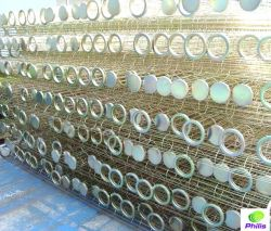 Gabbia d'acciaio galvanizzata montaggi industriali del sacchetto filtro del collettore di polveri