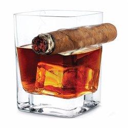 O whisky Acendedor de Cigarro Crystal bebendo vinho importado Sumo de licor Cup originalidade criativa óculos espessamento Square Swig caneca