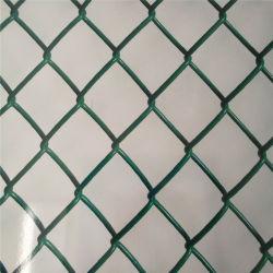 Оцинкованный && ПВХ из нержавеющей стали с покрытием PE зеленый виниловая пленка с покрытием звено цепи ограждения