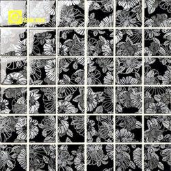 Foshan Cristal negro de la fábrica de azulejos de mosaico de Pizarra para la trama