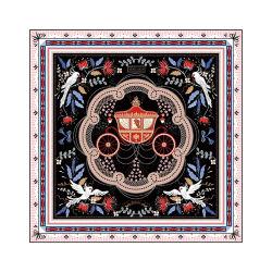 Sciarpa quadrata Lady Silk stampata su misura 100% seta di gelso