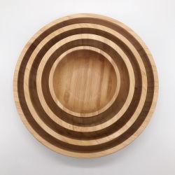 Vuelta el tazón de bambú el bambú Set ensaladera