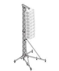 알루미늄 트러스 라인 어레이 스피커 스탠드 트러스 타워 리프트