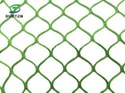 農業のプラスチックダイヤモンドか六角形の緑色Htpp/PPのKnotless貨物または反落ちるか、または落下阻止またはフルーツの庭の保護止め金の鳥のネットか網または網