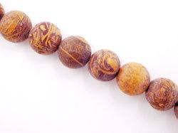 Commerce de gros de la peau de l'éléphant Jasper ronde mat 4-12mm perles de pierres précieuses