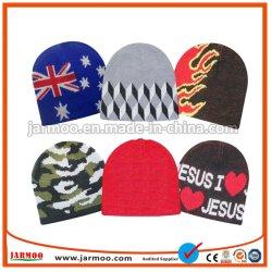 100% полиакрил индивидуальные Beanie и шарфом, оптовых трикотажные Beanie Red Hat