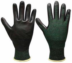 18のゲージのHppeはさみ金の切口の抵抗の安全手袋、マイクロ泡のニトリル、タッチ画面