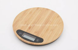 Eco runde Digital Küche-Schuppe, Bambus