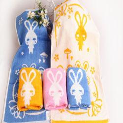 Fibre de bambou Cartonn modèle lapin Serviette de toilette pour bébé peuvent être traités de l'agent de marque TDM-1953