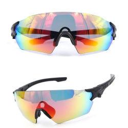 Rimless 3 Revestimiento de color de lentes intercambiables anteojos de sol reflejados Militar Ligero dispara las gafas de seguridad 2018