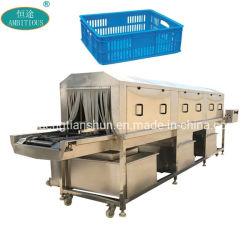 El volumen de negocios de alimentos de plástico Máquinas de limpieza Carrito Lavadora lavadora de cajas